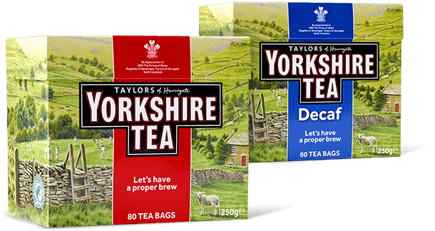 Some of the types of yorkshire tea on offer